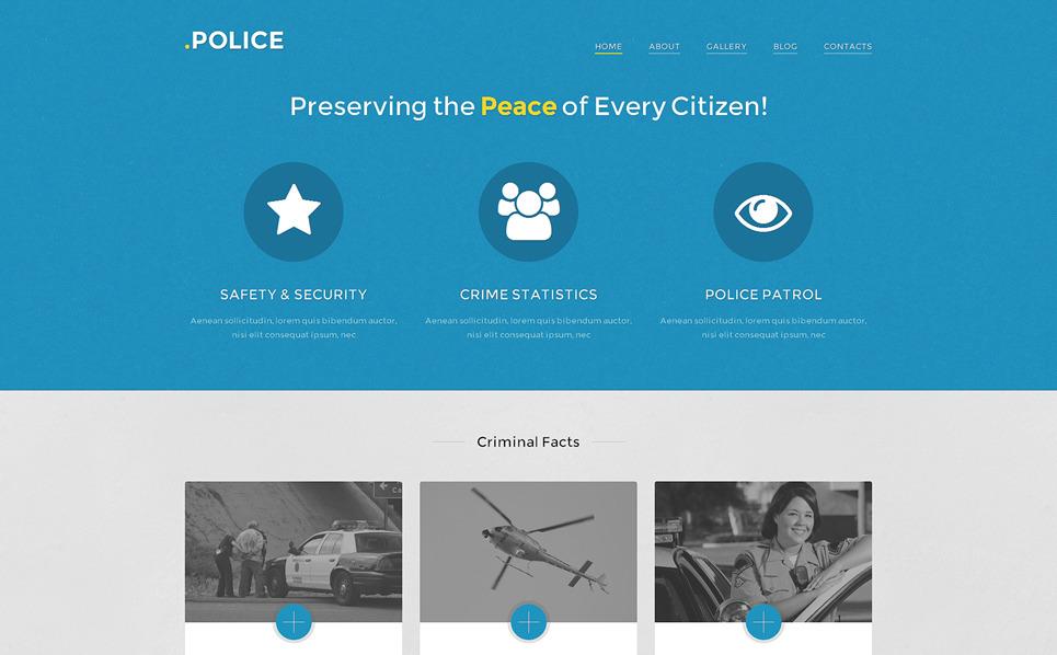 Адаптивний WordPress шаблон на тему поліція New Screenshots BIG