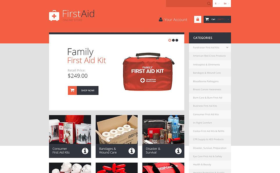 Responzivní PrestaShop motiv na téma Záchranní služba New Screenshots BIG
