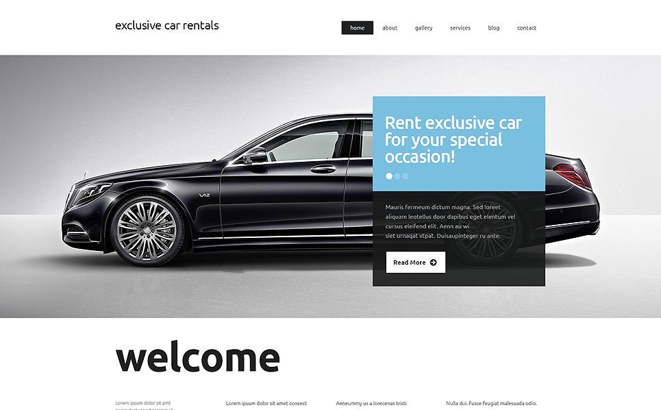 Responzivní Šablona webových stránek na téma Půjčovna aut New Screenshots BIG