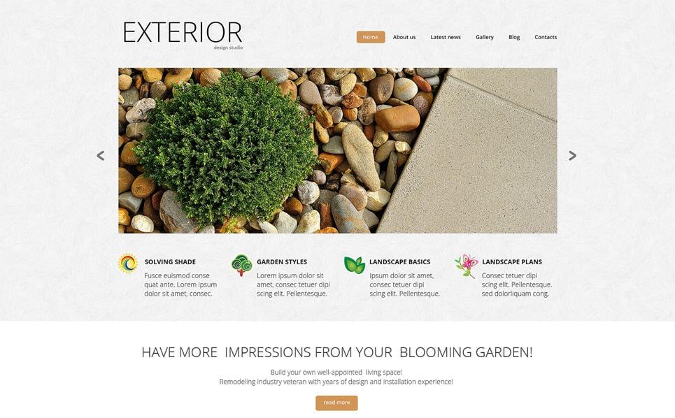 Responsive Peyzaj Tasarımı  Web Sitesi Şablonu New Screenshots BIG