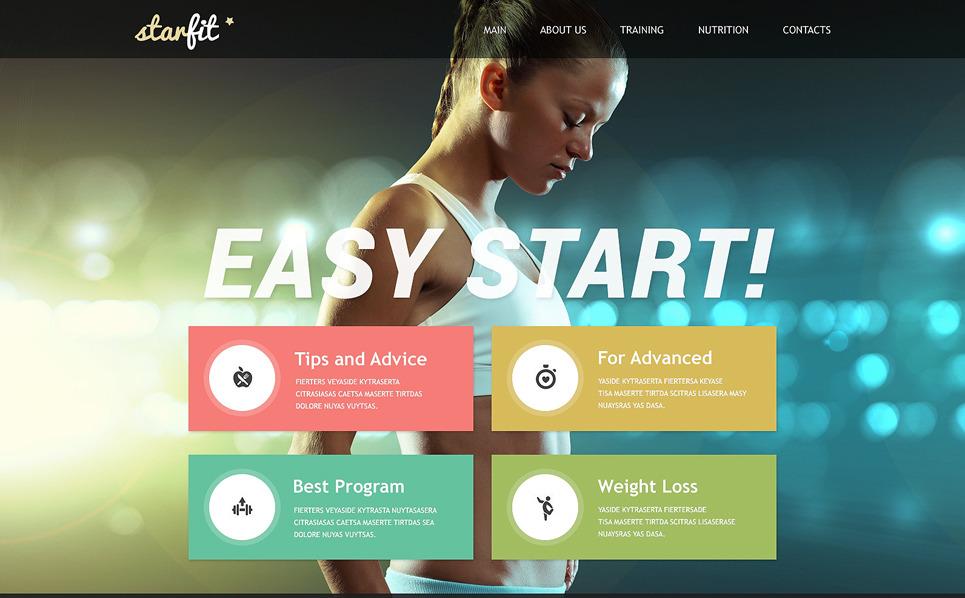 Адаптивний Шаблон сайту на тему фітнес New Screenshots BIG