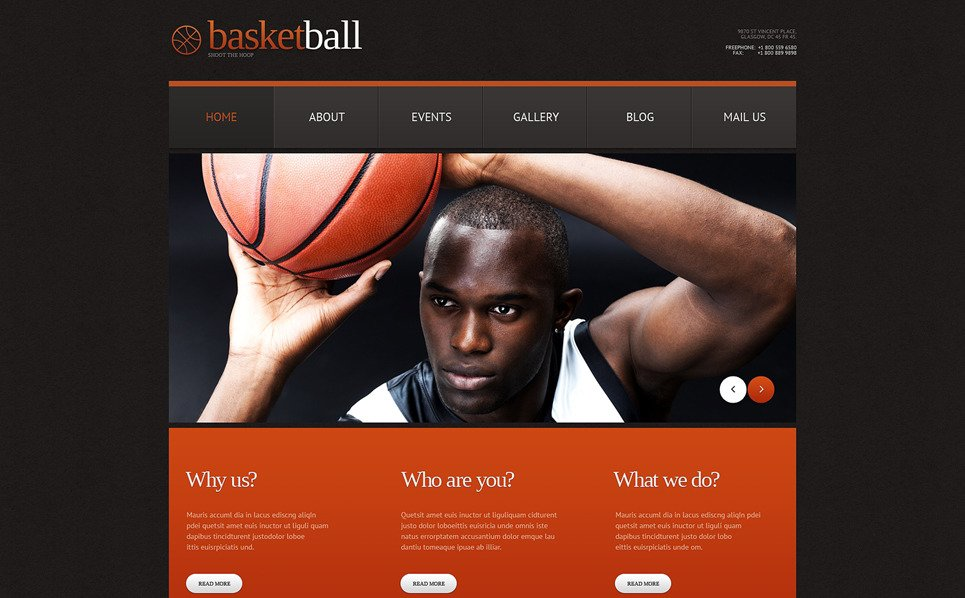 Responsive WordPress thema over Basketball  New Screenshots BIG