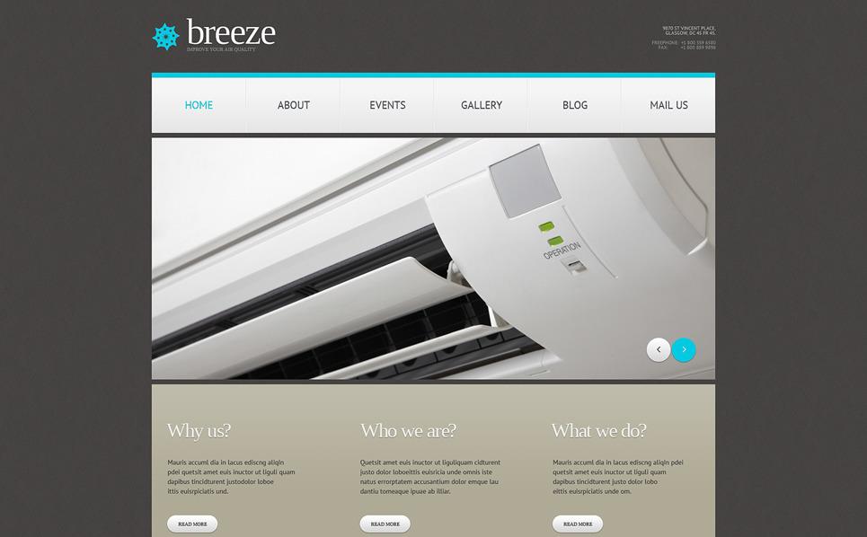 Reszponzív Légkondíciónálás WordPress sablon New Screenshots BIG