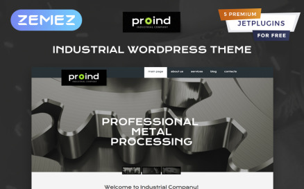 Proind - Industrial Services Multipurpose Modern Elementor WordPress Theme