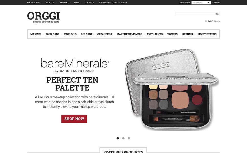 VirtueMart šablona Kosmetický obchod New Screenshots BIG