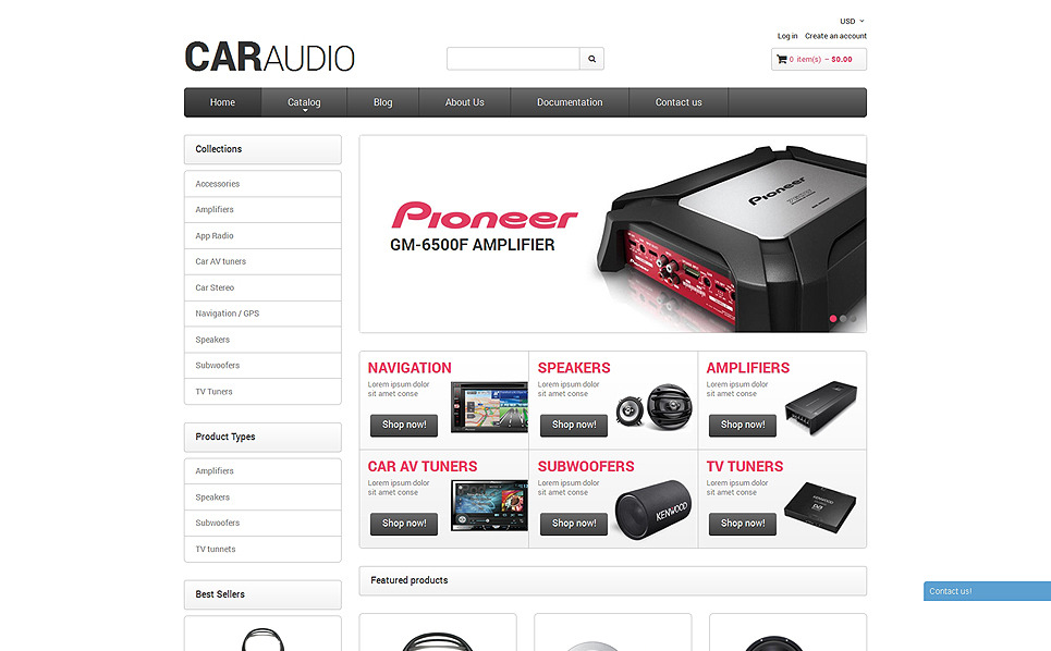 Responsywny szablon Shopify #49649 na temat: audio samochodowe New Screenshots BIG