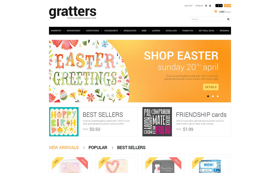 "PrestaShop Theme namens ""Grußkartenshop"" New Screenshots BIG"