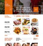 Cafe & Restaurant Joomla  Template 49657