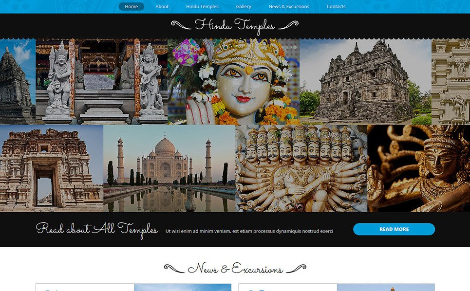 Responsive Hinduizm  Joomla Şablonu New Screenshots BIG