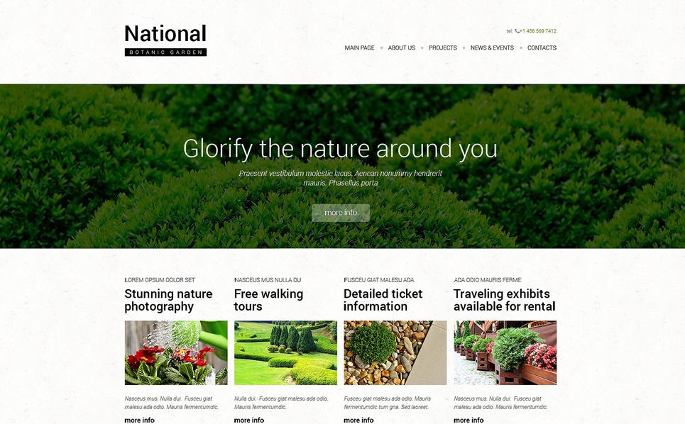Responzivní Šablona webových stránek na téma Design zahrady New Screenshots BIG