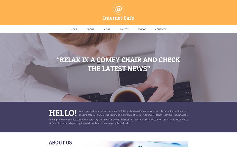 Адаптивний Шаблон сайту на тему інтернет кафе New Screenshots BIG