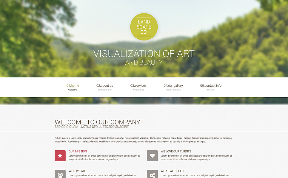 Адаптивний Шаблон сайту на тему ландшафтний дизайн New Screenshots BIG