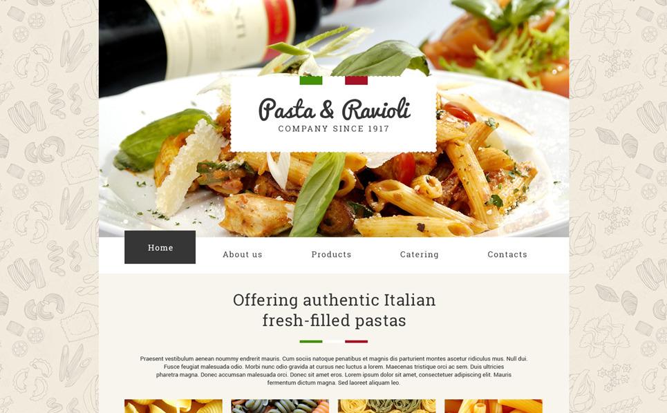 Responsive Yiyecek Mağazası  Web Sitesi Şablonu New Screenshots BIG