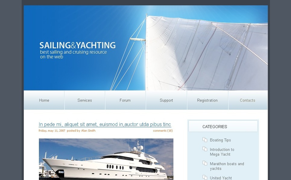 Template PSD  #49681 per Un Sito di Yachting New Screenshots BIG