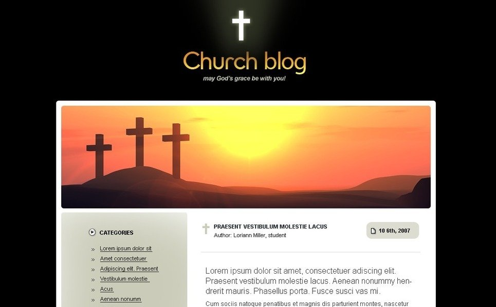 Plantilla PSD #49692 para Sitio de Religión New Screenshots BIG