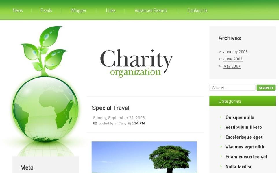 Template Photoshop  para Sites de Caridade №49695 New Screenshots BIG