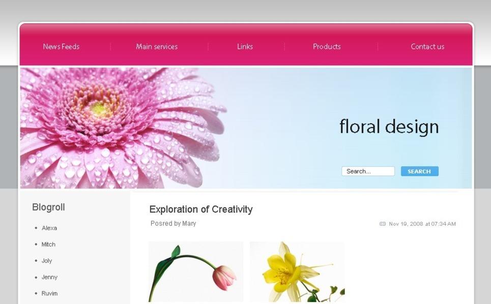 PSD šablona Květiny New Screenshots BIG
