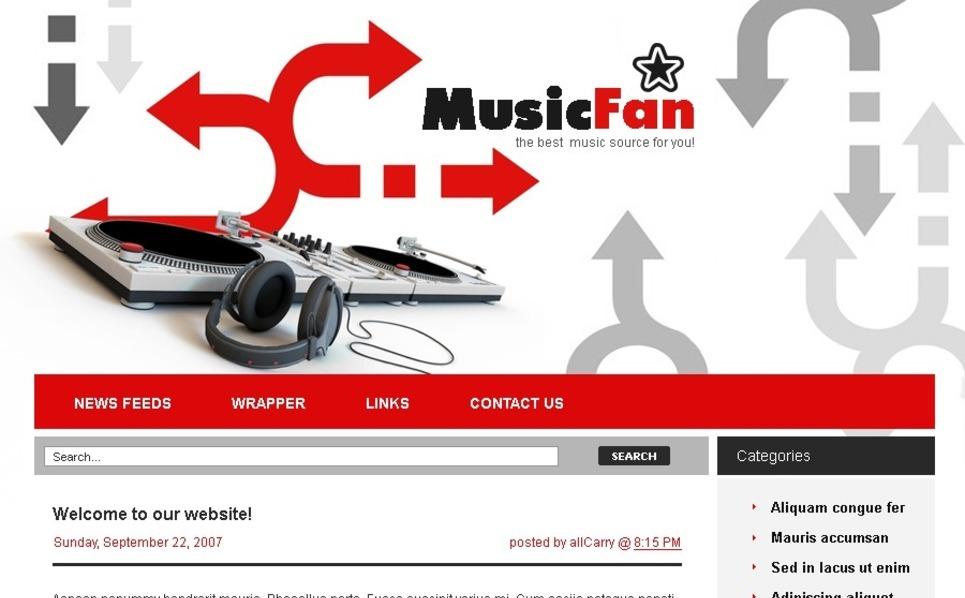PSD Vorlage für Musikportal  New Screenshots BIG
