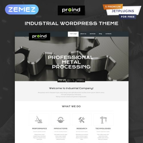Proind - WordPress Template based on Bootstrap
