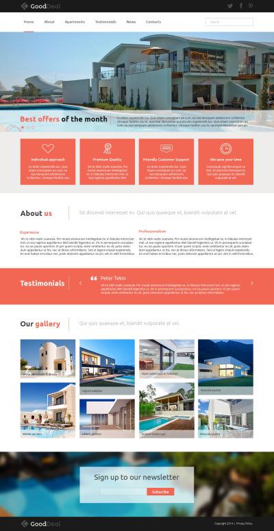 Адаптивный Joomla шаблон №49660 на тему агентство недвижимости