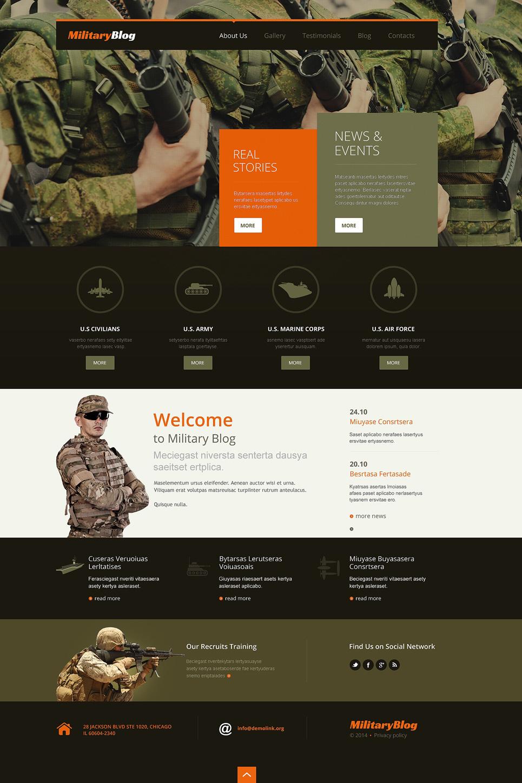 Адаптивный шаблон сайта на тему армия #49629