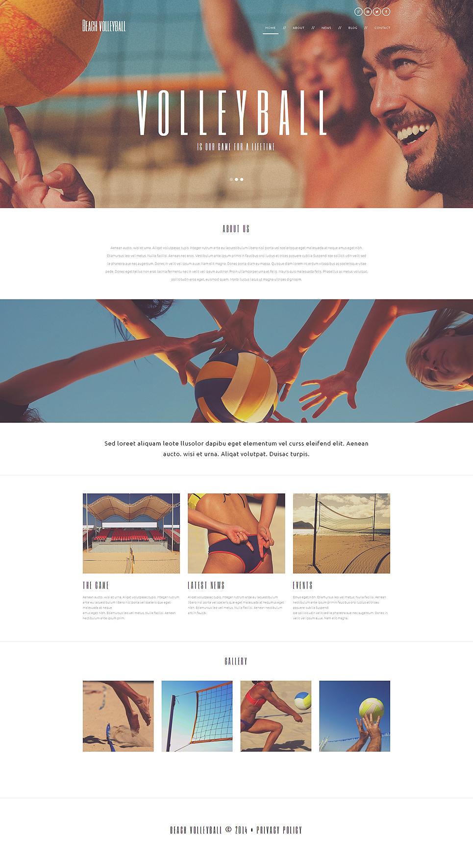 Адаптивный шаблон сайта на тему волейбол #49672