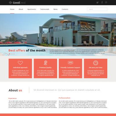 48 Best Joomla Real Estate Templates Template Monster Classy Apartment Website Design Property