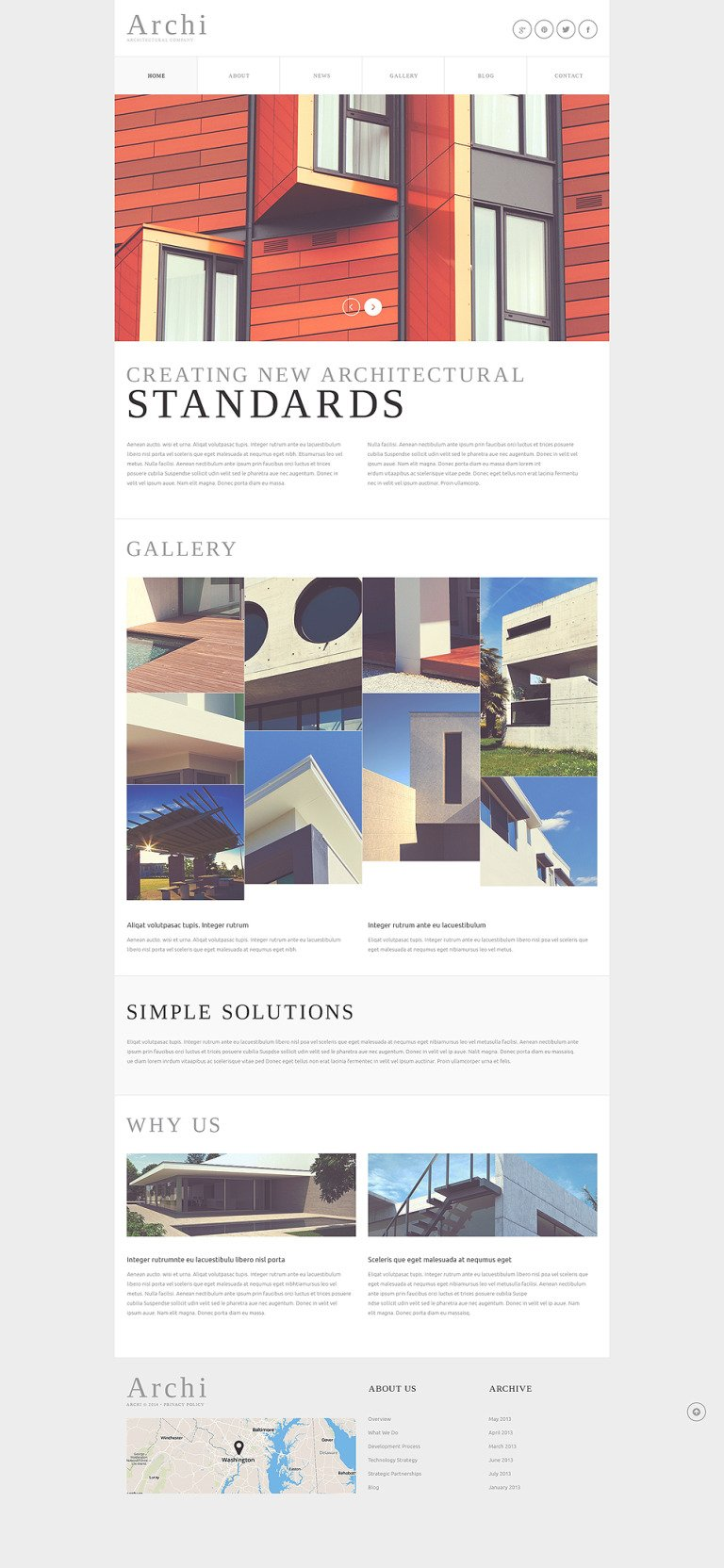 Architectural Company Joomla Template New Screenshots BIG