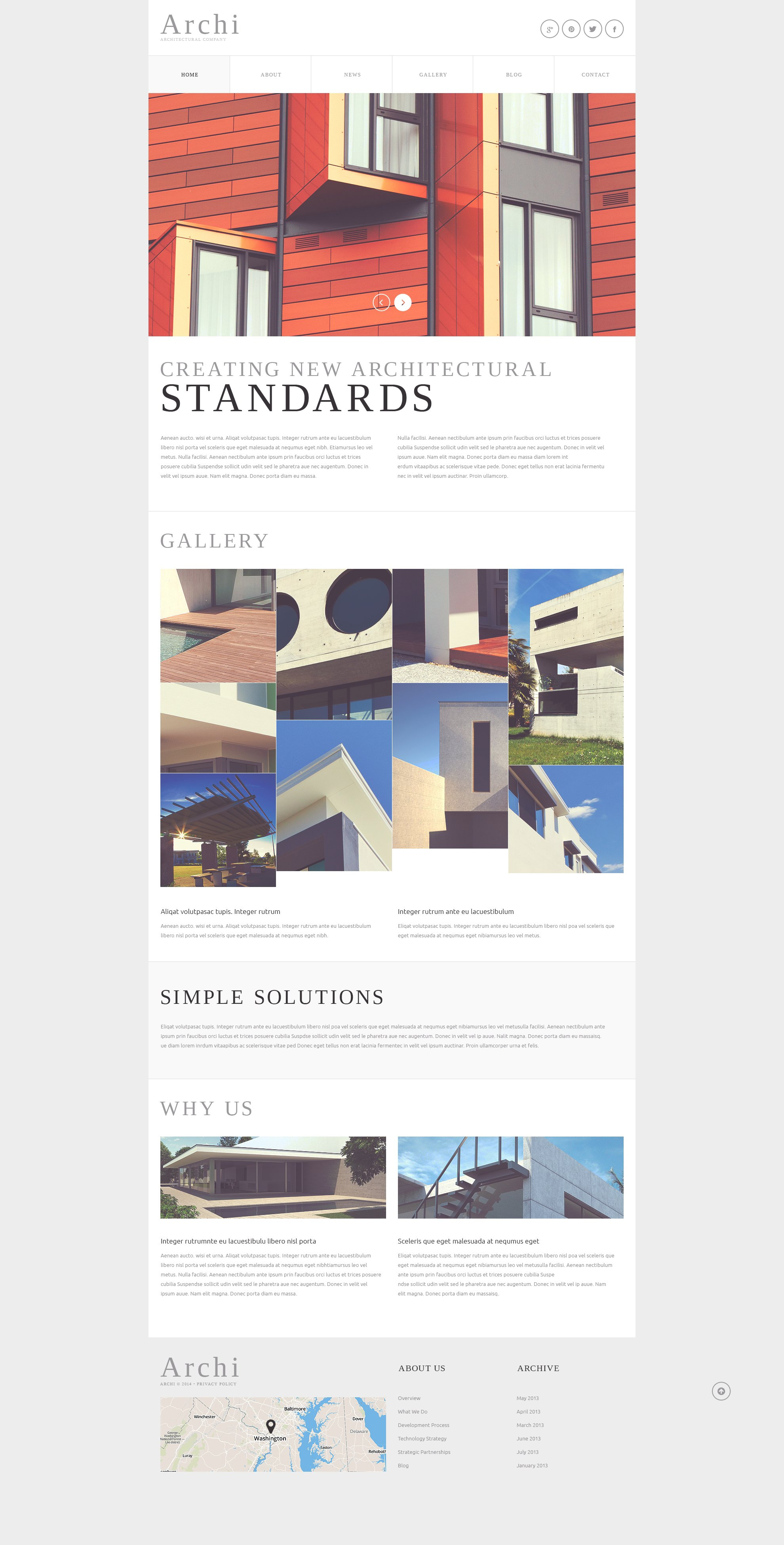Architectural Company Joomla Template - screenshot