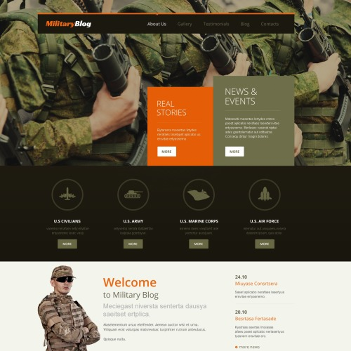 Military Blog - WordPress Template based on Bootstrap