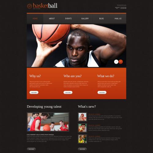 Basketball - WordPress Template based on Bootstrap