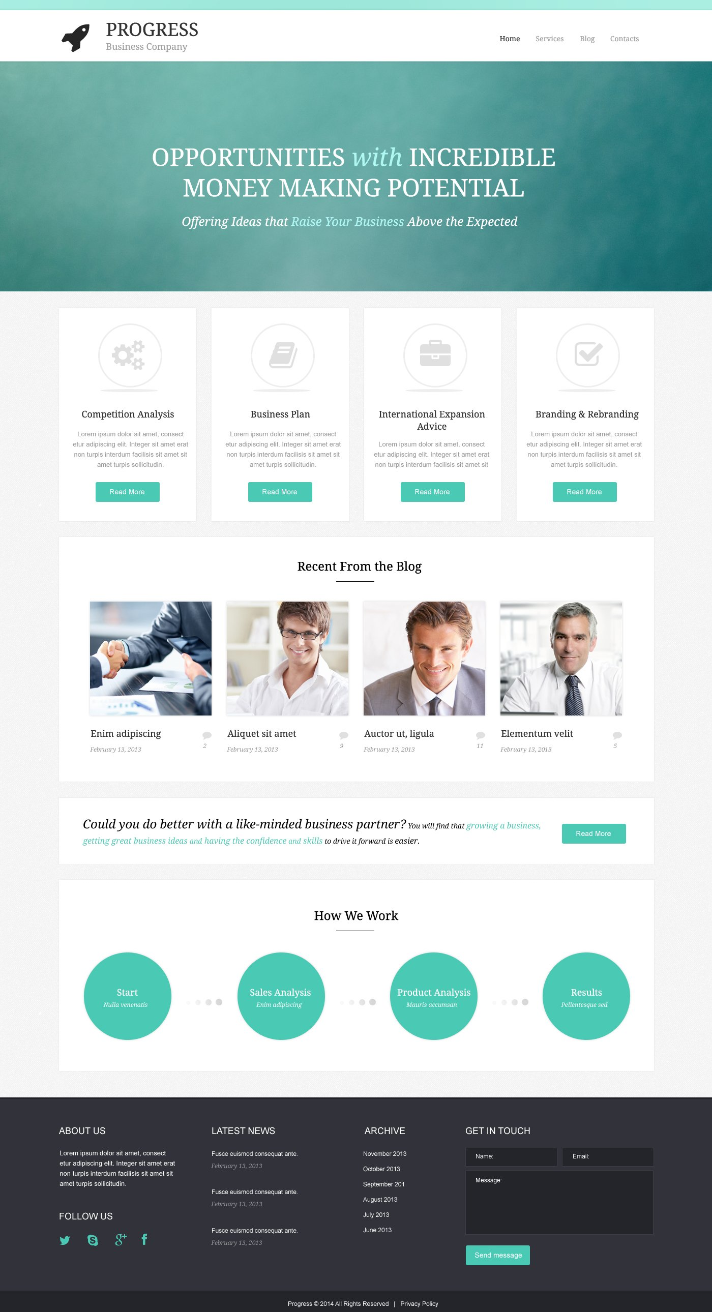 Build  Grow Startup WordPress Theme - screenshot