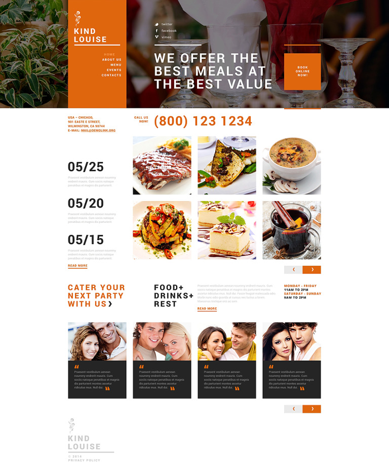 Cafe House Joomla Template New Screenshots BIG