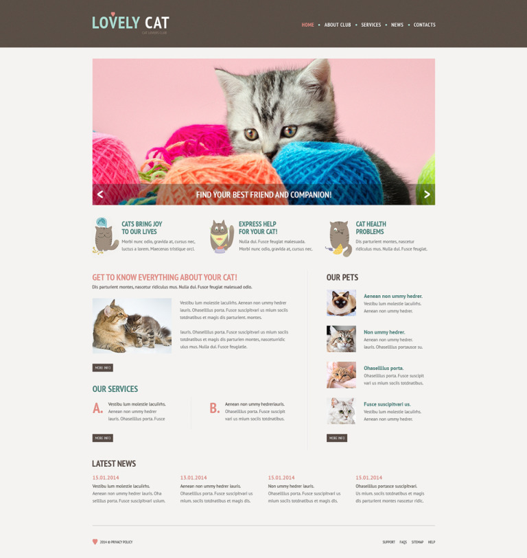 Cat Responsive Website Template New Screenshots BIG