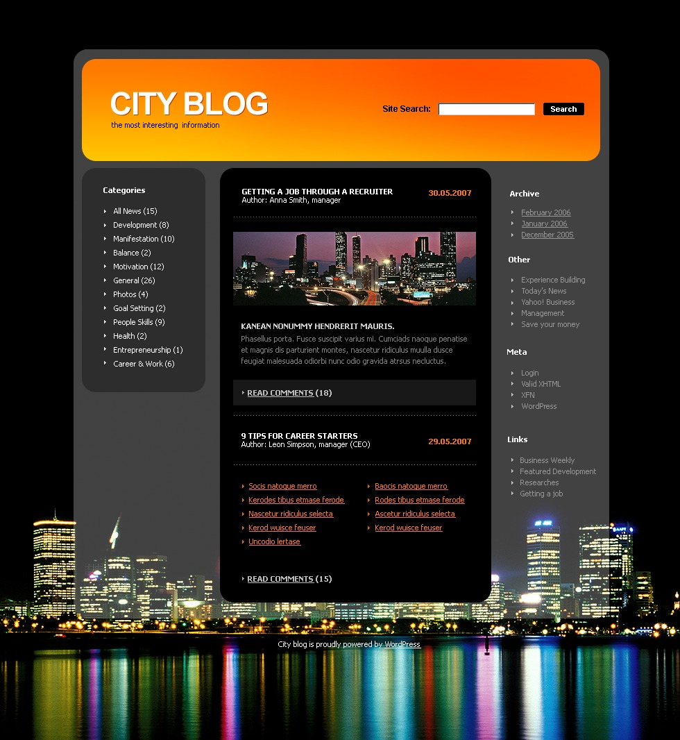 City Portal PSD Template