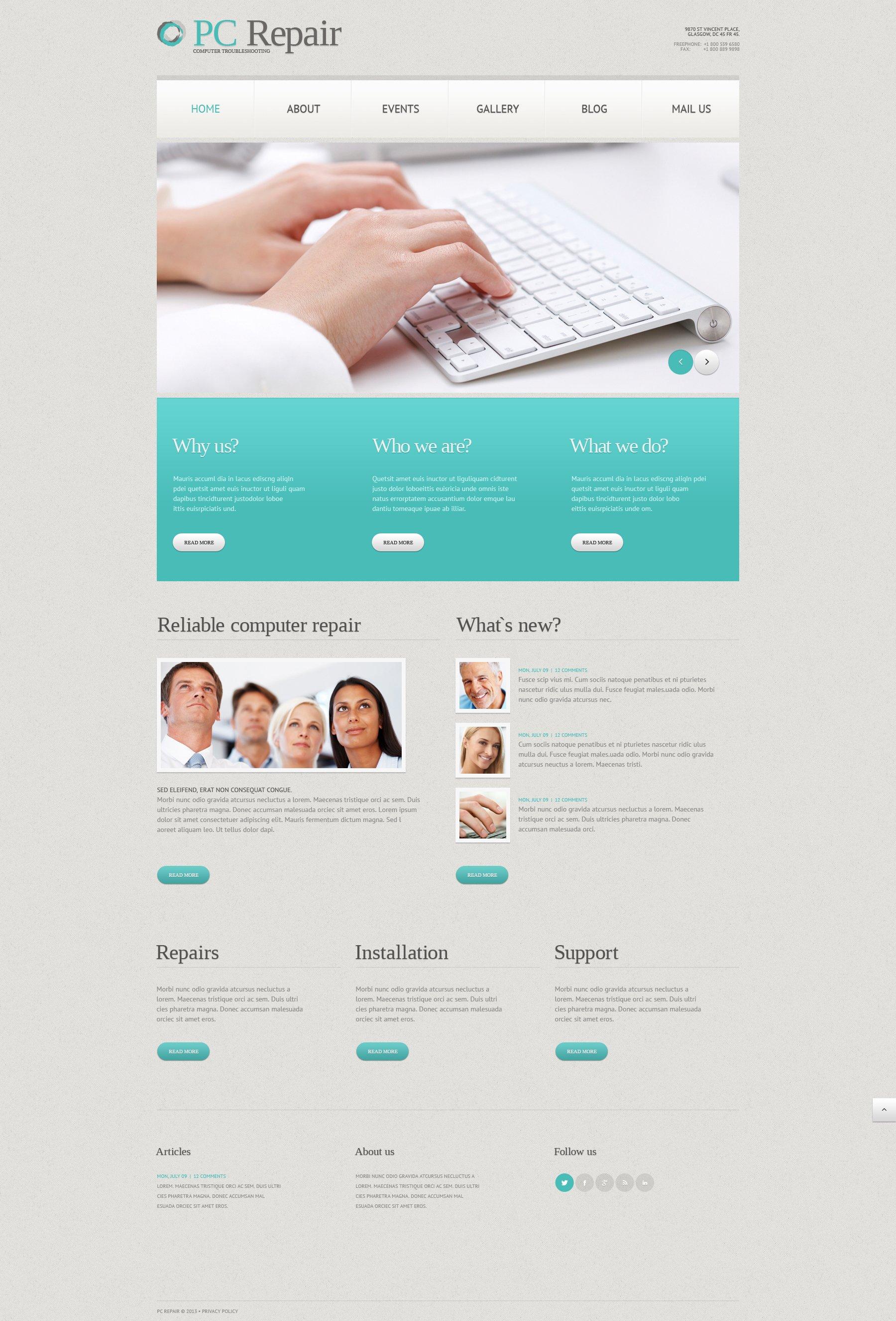 Computer Repair Responsive WordPress Theme - screenshot