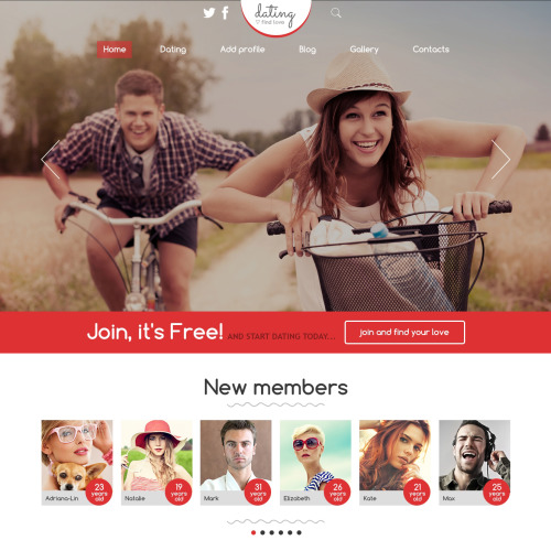 Dating Agency - Joomla! Template based on Bootstrap