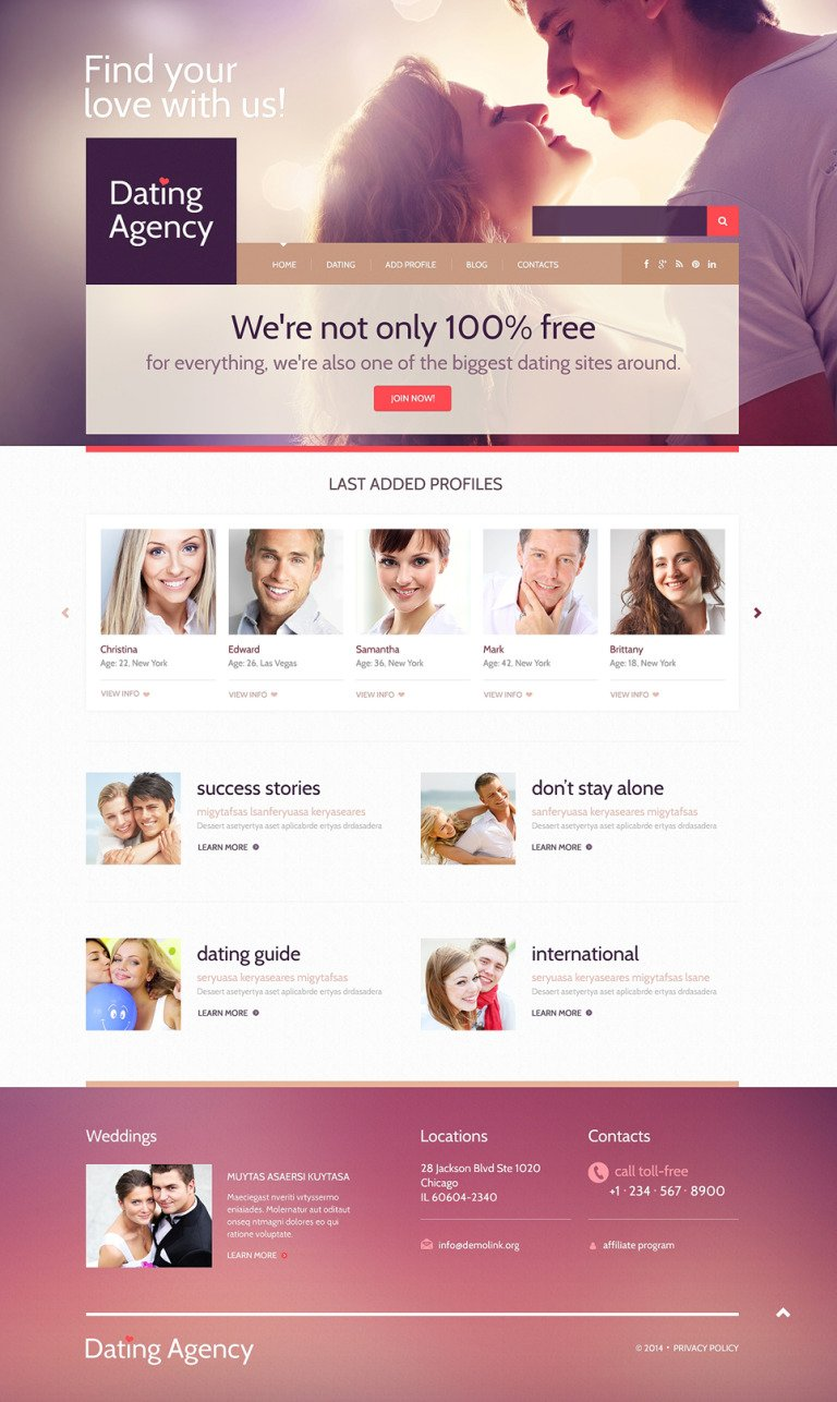 Dating Responsive WordPress Theme New Screenshots BIG