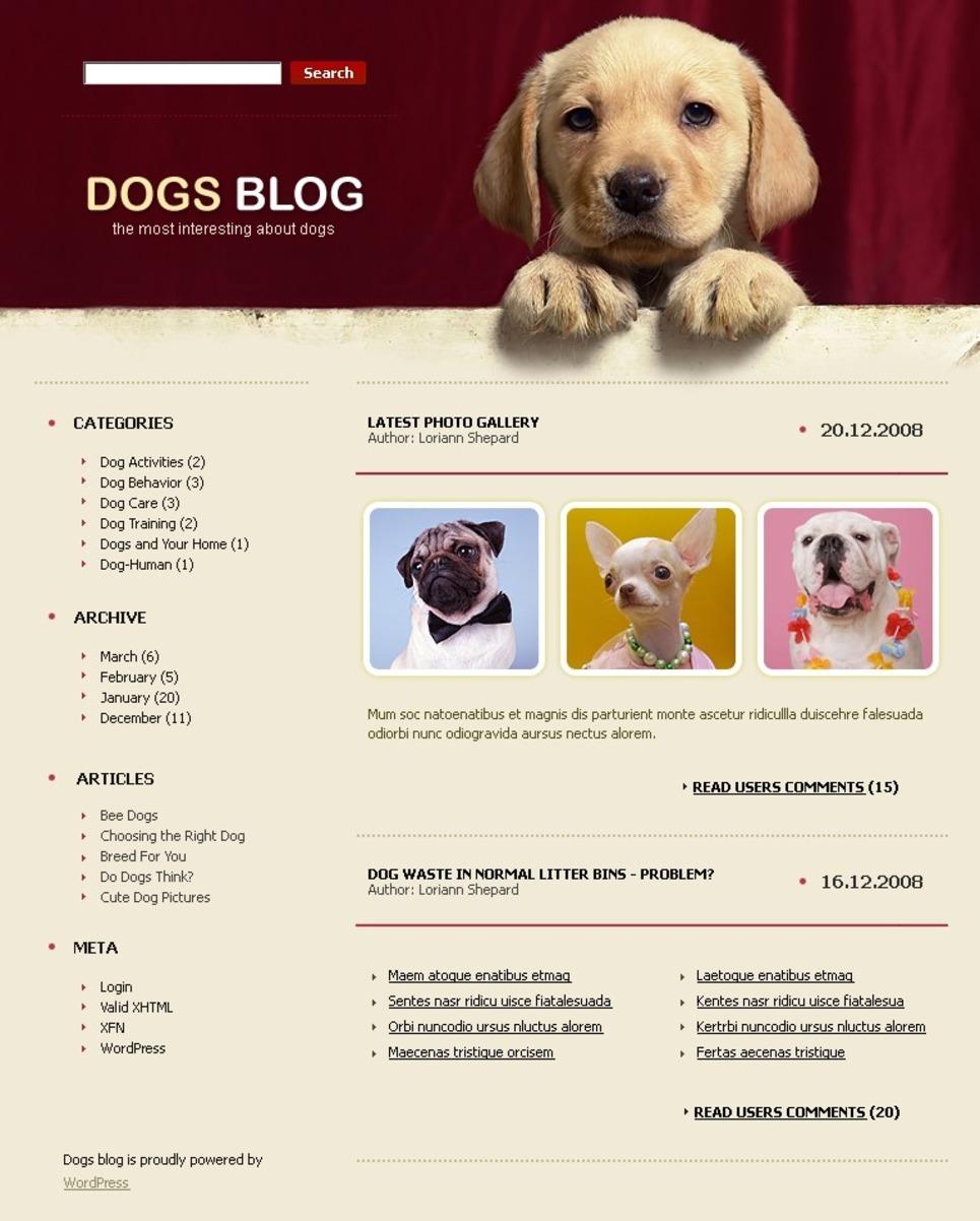 Dog PSD Template New Screenshots BIG