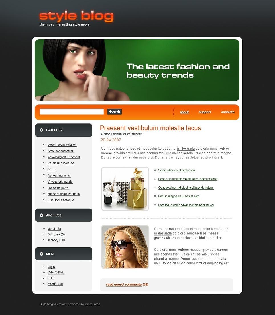 Fashion Blog PSD Template New Screenshots BIG