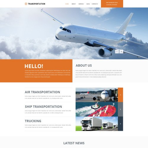 Transportation - Joomla! Template based on Bootstrap
