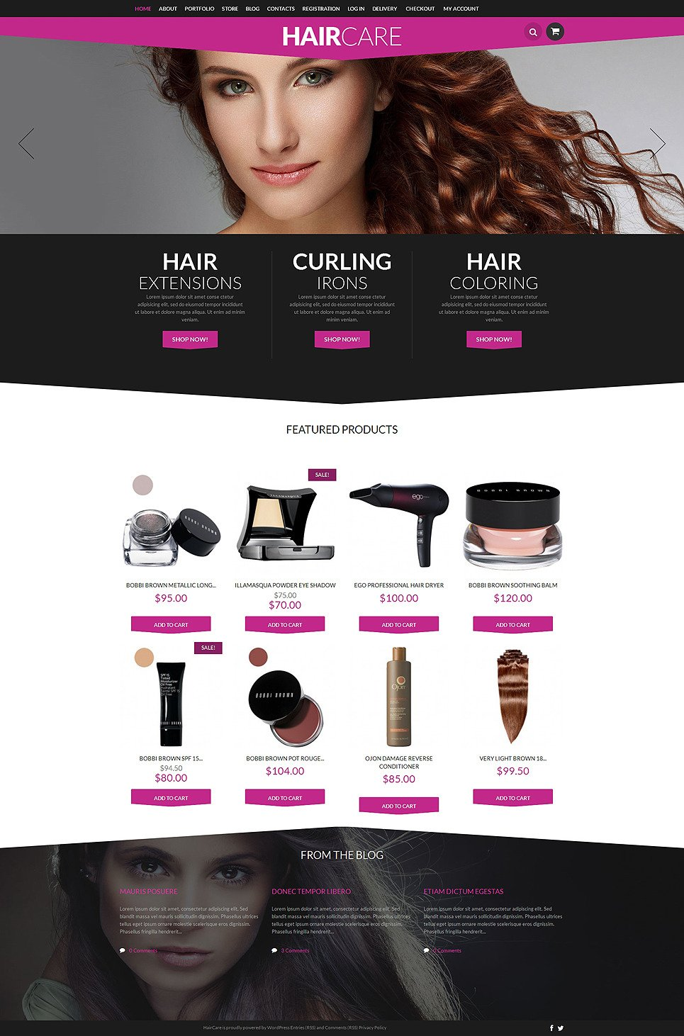 Hair Styling Supplies Shop WooCommerce Theme New Screenshots BIG