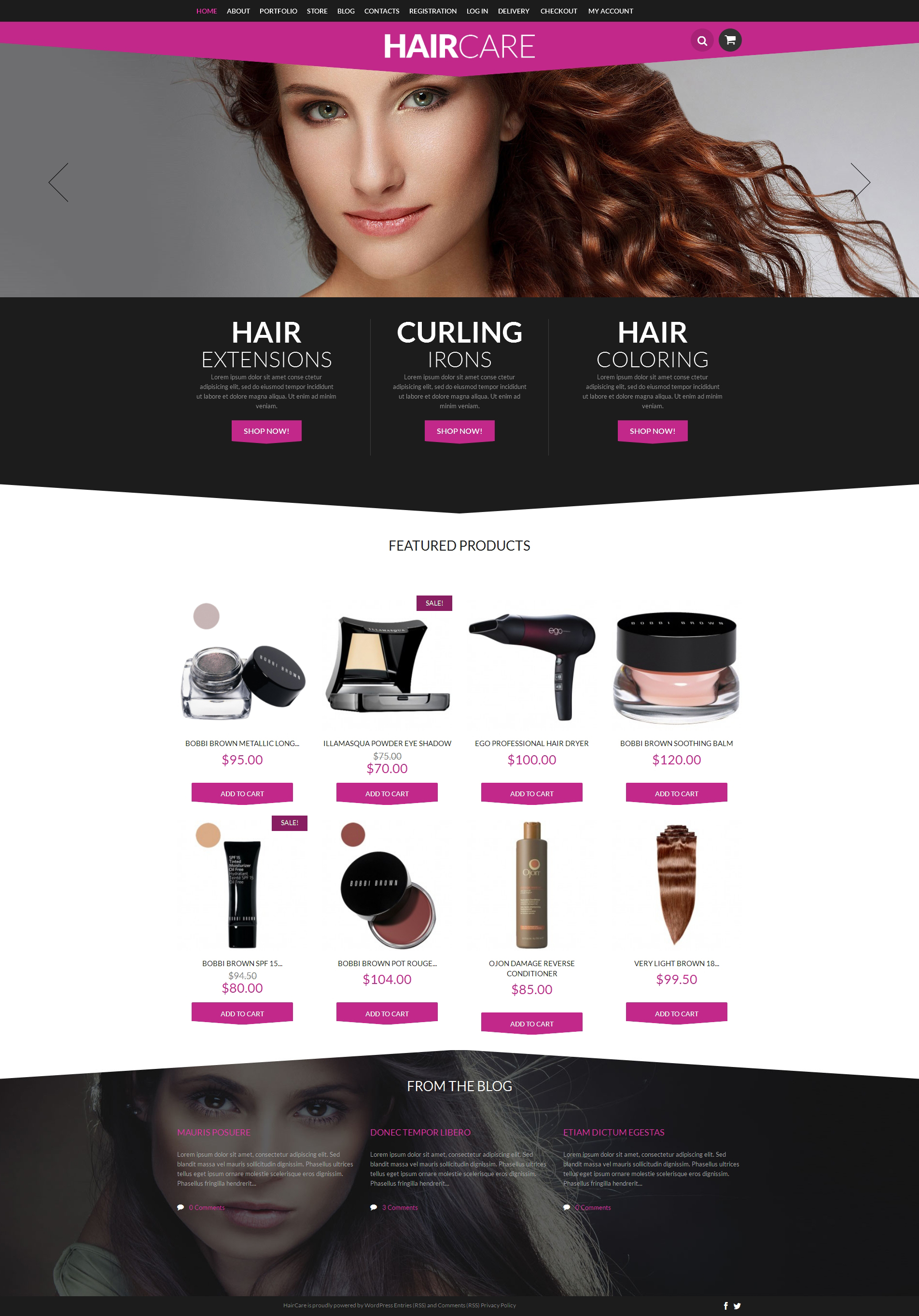 Hair Styling Supplies Shop WooCommerce Theme - screenshot