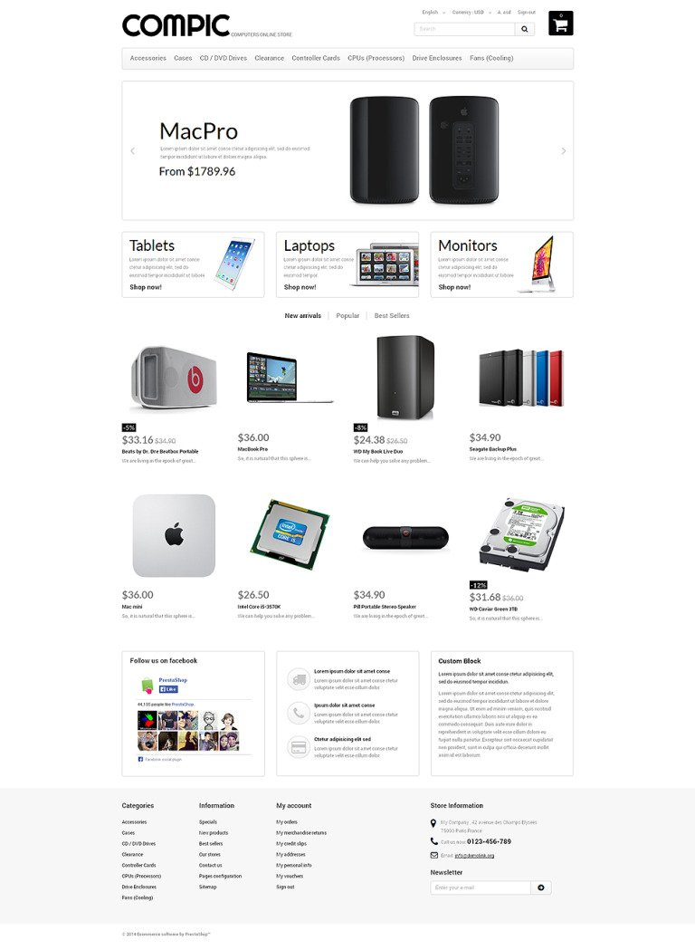 HighEnd Hardware PrestaShop Theme New Screenshots BIG