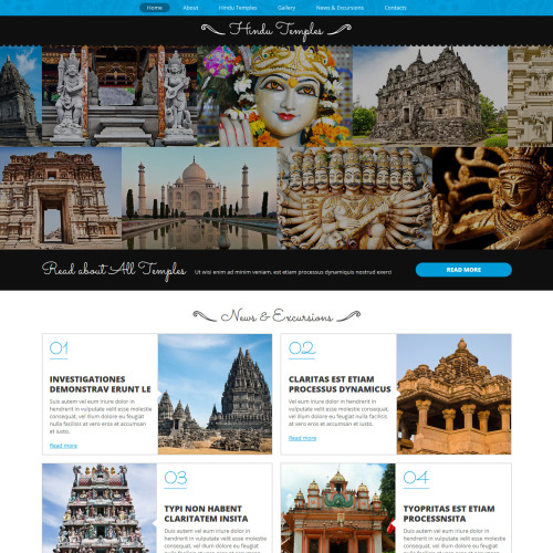 Hindu Temples - Joomla! Template based on Bootstrap