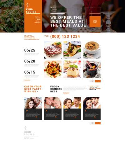 Адаптивный Joomla шаблон №49657 на тему кафе и ресторан