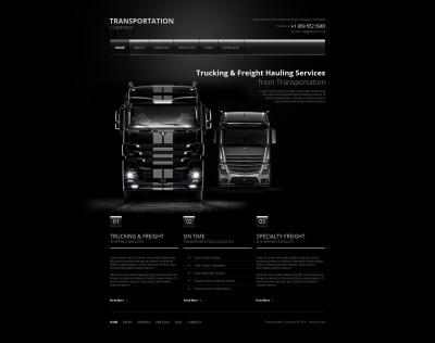 Moto CMS HTML Vorlage für Verkehrswesen