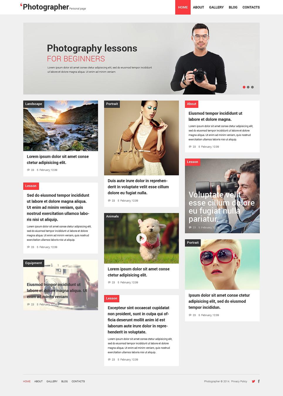 Photographer Portfolio Responsive WordPress Theme New Screenshots BIG