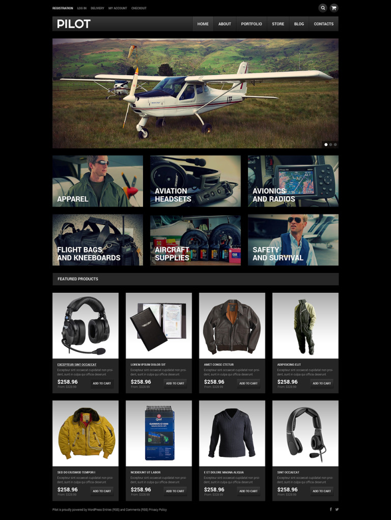 Pilot Shop WooCommerce Theme New Screenshots BIG