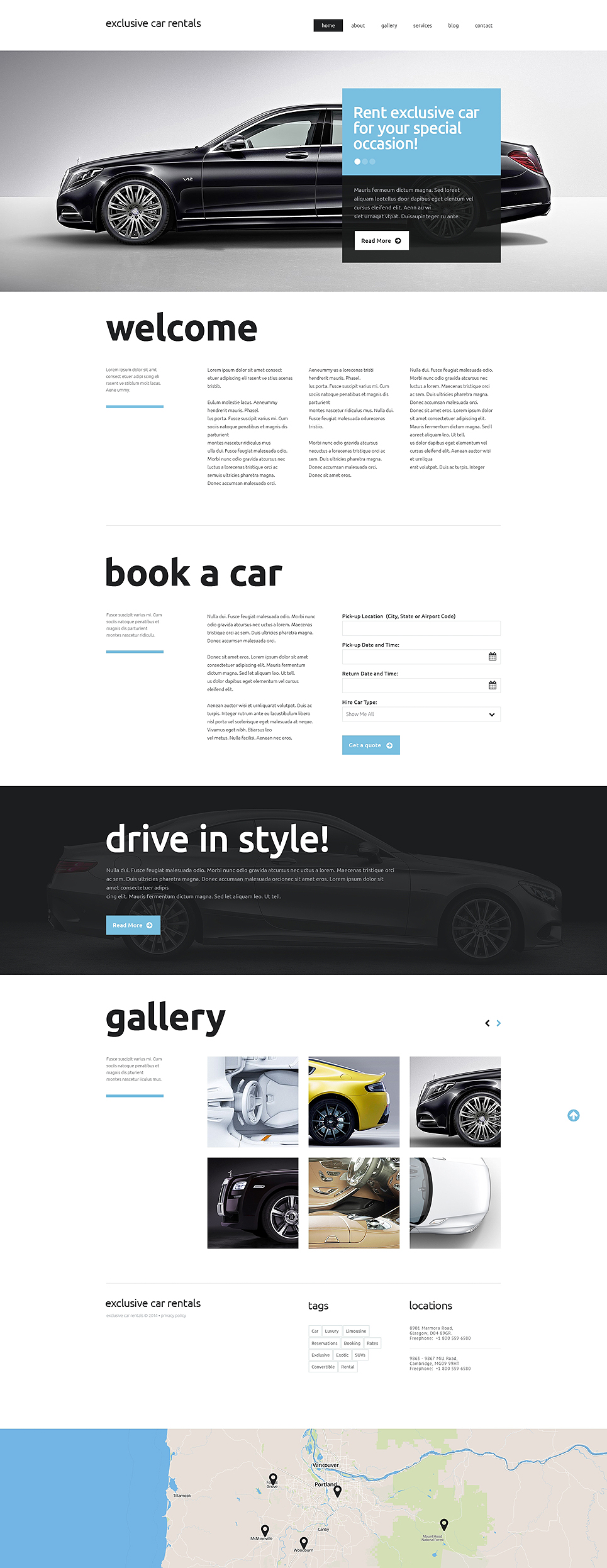Plantilla Web #49637 para Sitio de Alquiler de coches